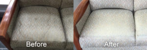 Chair upholstery before and after
