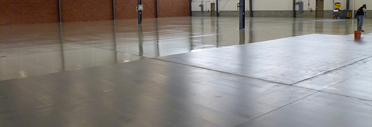 Epoxy floor after cleaning with FSG's proprietary Foamtech method