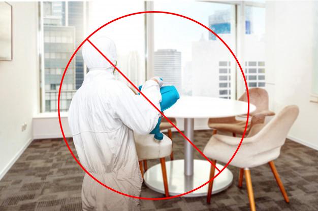 Incorrect carpet sanitizing method